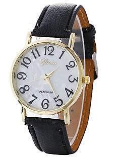 Damen Modeuhr Armbanduhr Armbanduhren für den Alltag Chinesisch Quartz PU Band Bequem Schwarz Weiß Blau Braun Grün Rosa Rose