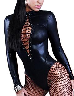 billige Sexy kostymer-Flere Kostymer Cosplay Kostumer Dame Karneval Nytt År Festival / høytid Halloween-kostymer Svart Sexy Uniformer Flere Uniformer