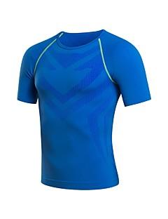 billige Løbetøj-Herre Løbe-T-shirt Kortærmet Svedreducerende, Strækkende, Åndbarhed Sweatshirt / T-Shirt / Toppe for Træning & Fitness / Løb Terylene Rød