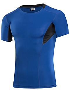 billige Løbetøj-Herre Grundlag Kortærmet Svedreducerende, Strækkende, Åndbarhed Træningsdragt / Sweatshirt / T-Shirt for Træning & Fitness / Cykling /