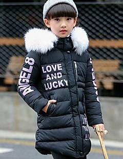 女の子 ゼブラプリント ポリエステル ダウン&コットンキルティング 冬 長袖