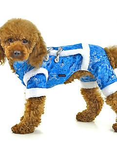 犬 ジャンプスーツ 犬用ウェア カジュアル/普段着 刺繍 レッド ブルー ピンク コスチューム ペット用