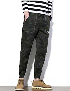 billige Herrebukser-Herre Aktiv Skinny Harem Chinos Bukser Ensfarvet camouflage