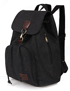 cheap -Women's Bags Canvas Backpack for Outdoor / Traveling Blue / Black / Coffee