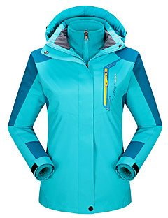 Women's 3-in-1 Jackets Keep Warm Breathable Wearproof 3-in-1 Jacket Top for Running/Jogging Camping / Hiking Climbing Winter Fall/Autumn