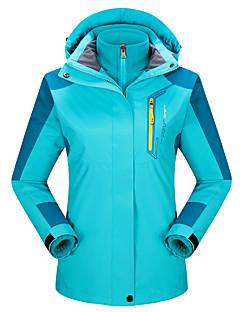 Damen 3-in-1 Jacken warm halten Atmungsaktiv Wasserdicht 3-in-1 Jacken Oberteile für Rennen Camping & Wandern Klettern Winter Herbst M L
