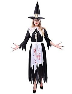 Trollmann/heks Cosplay Badedrakt/Kjoler Kvinnelig Unisex Festival/høytid Halloween-kostymer Svart Halloween Karneval Vintage