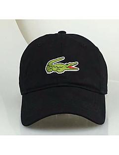 Unisex Fritid Baseballcaps Solid Svart