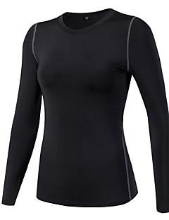 billiga Träning-, jogging- och yogakläder-Dam Rund hals T-shirt för jogging - Ljusröd, Marinblå, Frukt grön sporter T-shirt / Collegetröja / Överdelar Långärmad Sportkläder
