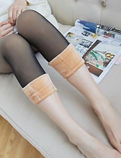 naisten lämpimät pantyhosenylon-sukat, paksuuntuminen, kiinteä väri