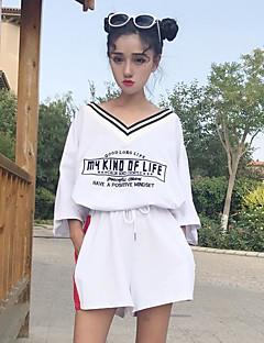 レディース スポーツ 夏 Tシャツ(21) パンツ スーツ,シンプル ラウンドネック レタード 七分袖