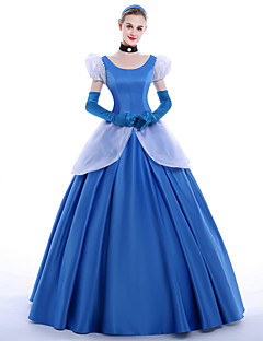cheap Men's & Women's Halloween Costumes-Princess Cinderella Queen Cosplay Costume Party Costume Masquerade Movie Cosplay Dress Gloves Petticoat Headband Christmas Halloween