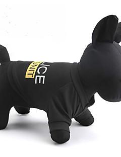 billiga Hundkläder-Katt Hund T-shirt Hundkläder Bokstav & Nummer Polis/Militär Svart Terylen Kostym För husdjur