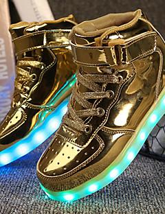 Băieți Pantofi Imitație de Piele Iarnă Toamnă Confortabili Pantofi Usori Adidași Plimbare Cârlig & Buclă LED Pentru De Atletism Casual