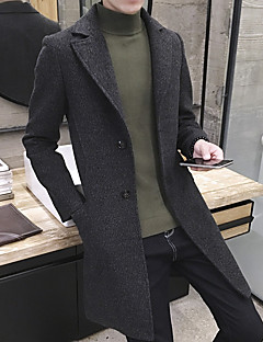 Men's Going out Casual/Daily Casual Spring Fall Coat