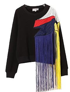 tanie Damskie bluzy z kapturem-Damskie Na co dzień Bawełna Bluza z Kapturem - Jendolity kolor Wielokolorowa