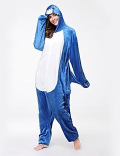 Kigurumi Pyjamas Hai Kostume Blå Flannelstoff Cosplay Kostumer Kigurumi Trikot / Heldraktskostymer Cosplay Festival / høytid Pysjamas med
