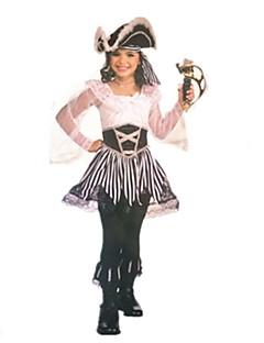 baratos Trajes da Noite das Bruxas-Pirata / Fantasias Fantasias de Cosplay / Baile de Máscara Para Meninas Dia Das Bruxas / Carnaval / Dia da Criança Festival / Celebração Trajes da Noite das Bruxas Outro / Vintage