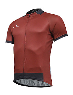 cheap Cycling Clothing-ILPALADINO Men's Short Sleeves Cycling Jersey - Red Bike Jersey, Quick Dry, Spring Summer, Polyester Coolmax