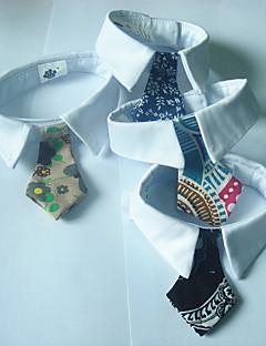 billiga Hundkläder-Hund Knyta / Fluga Hundkläder Brittisk Blå / Khaki grön Cotton Kostym För husdjur Herr / Dam Ledigt / vardag