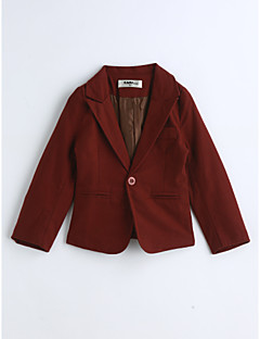 Boys' Solid Suit & Blazer,Cotton Spring Fall Long Sleeve Red