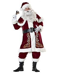 Santa Suits Santa Claus Outfits Male Adults' Christmas Festival / Holiday Halloween Costumes Red Vintage
