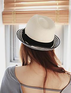 preiswerte -Damen Freizeit Urlaub Mützen Sommer Stroh Strohhut Sonnenhut,Solide Reine Farbe Schleife