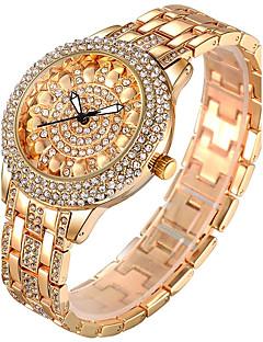 billige Armbåndsure-Dame Quartz Armbåndsur Kinesisk Kreativ / Imiteret Diamant Rustfrit stål Bånd Vedhæng / Glitrende / Afslappet / Elegant / Mode / Armring
