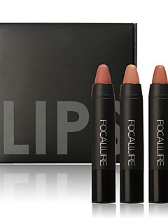 cheap Makeup For Lips-3Pcs Professional Makeup Lips Crayon Pencils Long Lasting Pigment Dark Color Nude Lot Matte Lipstick Set Makeup
