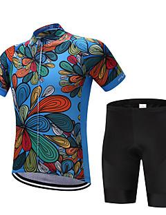 billiga Cykling-FUALRNY® Cykeltröja med shorts Herr Kortärmad Cykel Klädesset Cykelkläder Snabb tork Fuktgenomtränglighet Svettavvisande Minskar skavsår