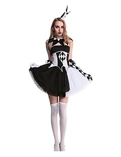 Burlesk/Klovn Cosplay Cosplay Kostumer Maskerade Kvinnelig Voksne Halloween Karneval Festival/høytid Halloween-kostymer Svart/Hvit Andre