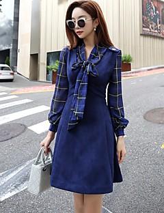 Feminino Camisa Social Para Noite Casual Trabalho Feriado Vintage Boho Sofisticado Primavera Outono,Listrado Poliéster Decote V Manga