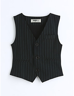 Boys' Stripe Vest,Cotton Spring Fall Sleeveless Black