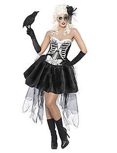 billige Halloweenkostymer-Prinsesse Spøkelse Cosplay Kjoler Cosplay Kostumer Halloween Utstyr Dame Halloween Karneval Festival / høytid Drakter Vintage