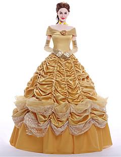 billige -Prinsesse Queen Cosplay Kostumer Party-kostyme Maskerade Film-Cosplay Kjole Hansker Underskjørt Parykker Jul Halloween Karneval Nytt År