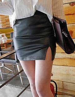 Damen Klub Mini Röcke Bodycon einfarbig Sommer