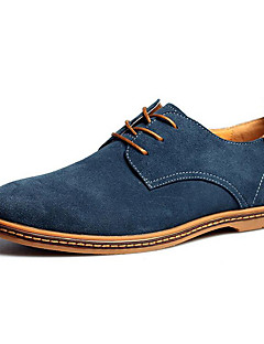 cheap -Men's Formal Shoes Microfiber Fall / Winter Comfort Oxfords Blue / Camel / Khaki / Wedding / Party & Evening / Suede Shoes