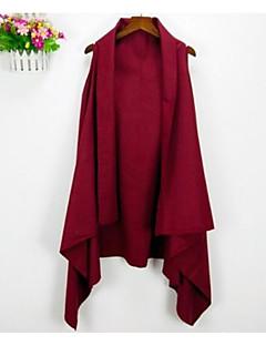 Damen Solide Einfach Lässig/Alltäglich Weste,V-Ausschnitt Sommer Kurzarm Standard Baumwolle