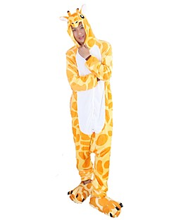 Kigurumi Pyjamas Sjiraff Kostume Gul Flannelstoff Cosplay Kostumer Sko Kigurumi Trikot / Heldraktskostymer Cosplay Festival / høytid
