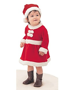 Baby Solid Color Chirstmas DressCorduroy Winter Fall/Autumn-
