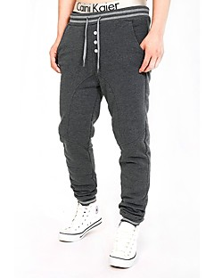 Men's Running Pants Breathable Comfortable Pants / Trousers for Running/Jogging Exercise & Fitness Cotton Slim Black Dark Grey Grey M L