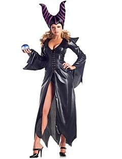 billige Halloweenkostymer-Trollmann/heks Cosplay Kostumer Halloween Festival / høytid Halloween-kostymer Svart Mote