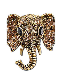 billige Valentinsdag-Nåler - Strass, Sølvplett Elefant, Dyr damer, Personalisert Brosje Smykker Gull / Sølv Til Gave / Stadie