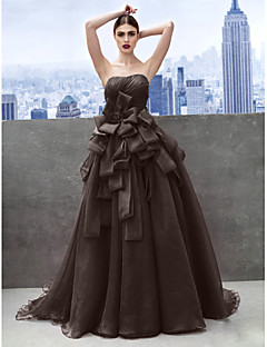 billiga Balklänningar-Prinsessa Hjärtformad urringning Kapellsläp Organza Bal / Formell kväll Klänning med Lager av TS Couture®