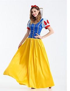 billige Halloweenkostymer-Prinsesse Snø Cosplay Kostumer Halloween Festival / høytid Halloween-kostymer Gul Mote