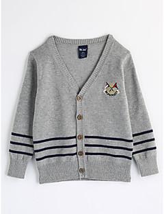 Jungen Bluse Streifen Baumwolle Herbst Lange Ärmel