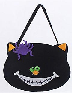 billige Halloweenkostymer-Katt Bagger og vesker Halloween Festival / høytid Halloween-kostymer Svart Mote