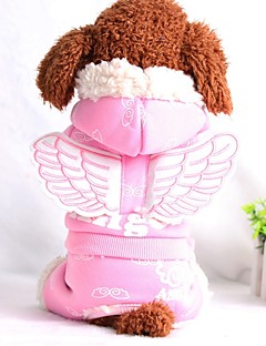犬 ジャンプスーツ 犬用ウェア ウォーム カジュアル/普段着 天使&悪魔 天使 ブルー ピンク コスチューム ペット用