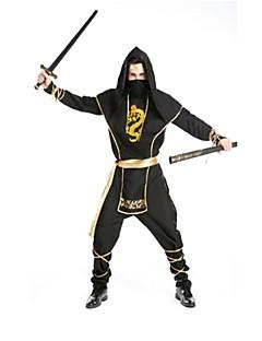 Ninja Cosplay Kostumer Halloween Festival/høytid Halloween-kostymer Svart Mote