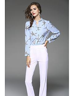 ieftine Modă Damă & Îmbrăcăminte-Pentru femei Stand Bluză Ieșire Draguț - Mată Floral Stil Artistic